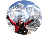 Grace Lawson in Kala Patthar (Himalayas)