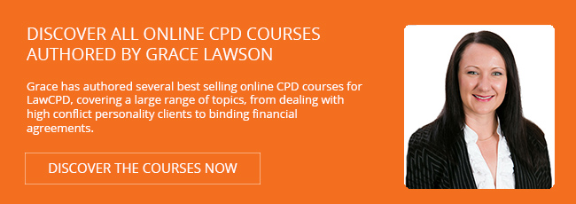 Discover all the online course authored by Grace Lawson for LawCPD