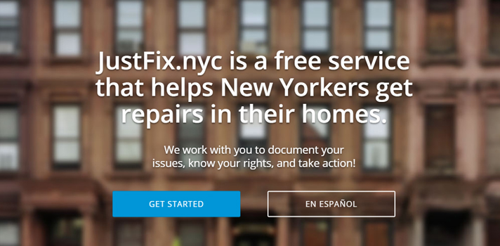 JustFix website screenshot