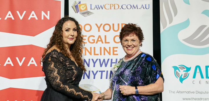 Michelle Russo received the Aboriginal Women's legal Education Trust Scholarship
